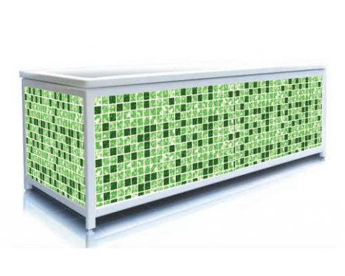 Экран под ванну ЭЛИТ Квадро зеленый