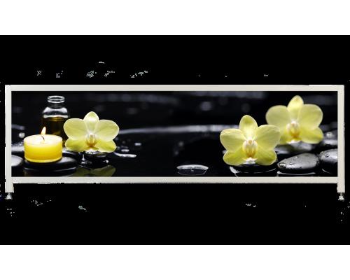 Экран под ванну «АРТ», Орхидея на черном
