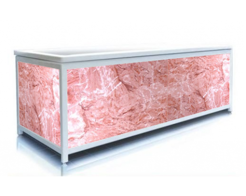 Экран под ванну ЭЛИТ Розовый лед