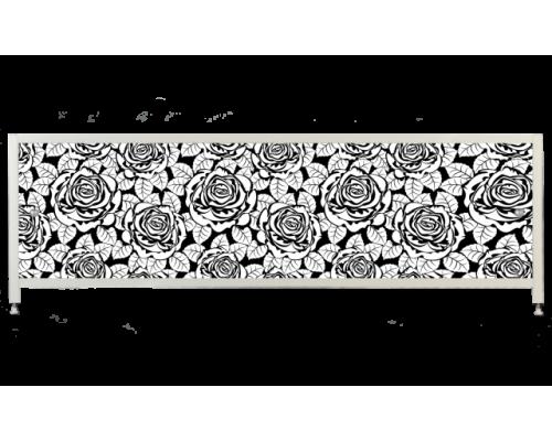 Экран под ванну «АРТ», Черная Роза