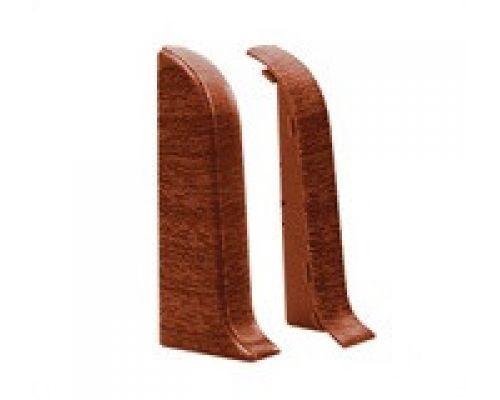 Торцевые (пара) - Комплектующие для плинтуса с кабель каналом 55 мм коллекции Комфорт Идеал