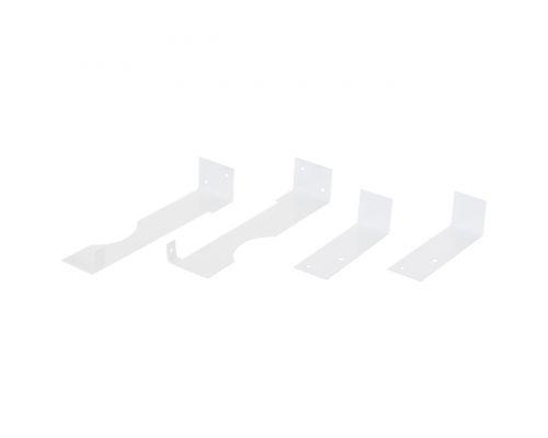 Комплект кронштейнов для крепления экранов Berloga на чугунные радиаторы, цвет белый