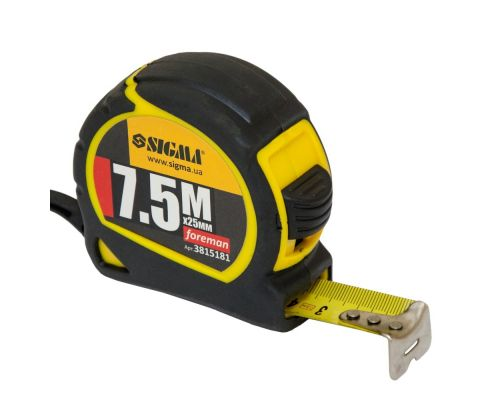 Рулетка Foreman 7.5м*25мм Sigma (3815181)