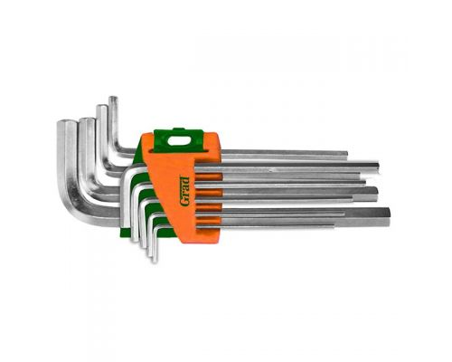 Ключи шестигранные 9шт 1,5-10мм CrV (средние) Grad (4022085)