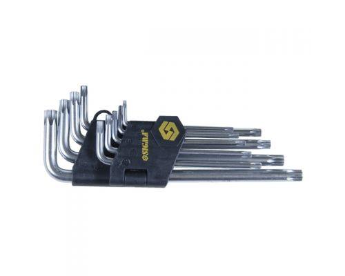 Ключи TORX 9шт T10-T50мм CrV (средние с отверстием) Sigma (4022221)