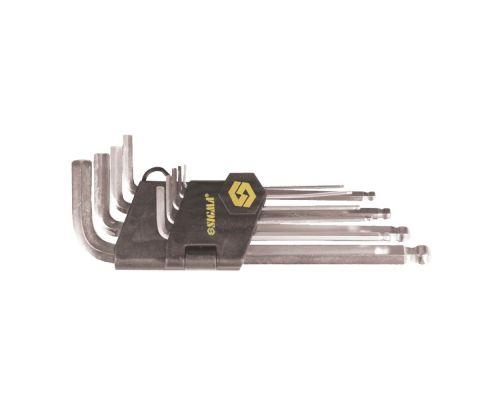 Ключи шестигранные 9шт 1/16-3/8 CrV (короткие) Sigma (4022541)