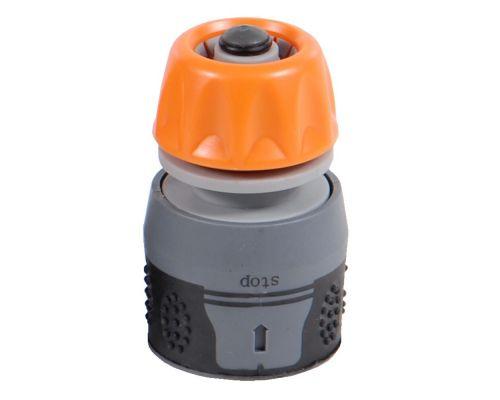 Коннектор ½ быстросъёмный aqua stop на шланг ⅝ Flora (500202z)