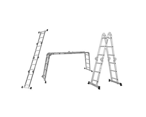 Лестница многоцелевая 4*4 (алюминиевая) FLORA (5031324)