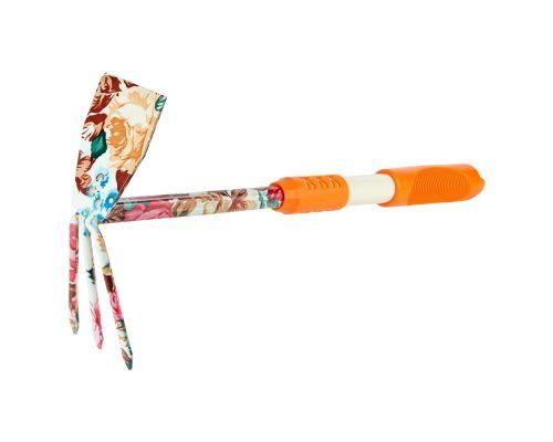 Мотыга комбинированная плоская + 3-х зубая (orange) (TPR) FLORA (5043054)