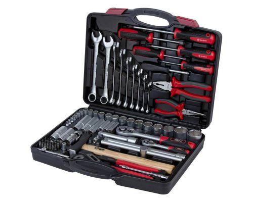 Набор инструментов, ключей, насадок торцевых и биты 1/4, 1/2 80шт CrV ULTRA (6001112)