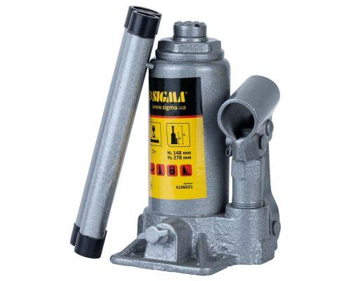 Домкрат гидравлический бутылочный 2т H 148-278мм Standard Sigma (6106021)
