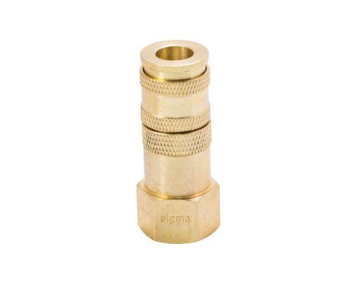 Соединение быстросъемное усиленное с фиксатором 1/2 (латунь) Sigma (7021661)
