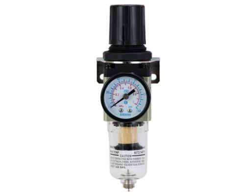 Фильтр влагоотделитель с редуктором и манометром 600л/мин 1/4 Sigma Refine (7034341)
