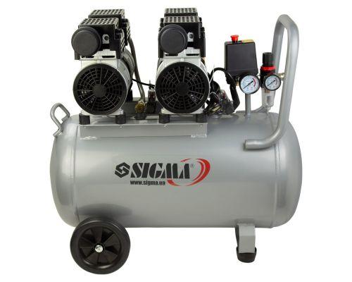 Компрессор четырехцилиндровый безмасляный 2.2кВт 308л/мин 8бар 50л Sigma (7042551)