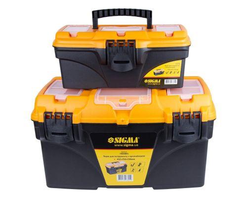 Набор ящиков для инструмента 2в1 с органайзером 320×165×136мм, 432×250×238мм Sigma (7403761)
