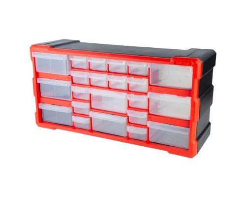 Органайзер пластиковый вертикальный 22 выдвижных отсека 250×500×160мм ULTRA (7417522)