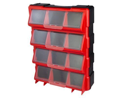 Органайзер пластиковый вертикальный 12 закрывающихся отсека 460×360×120мм ULTRA (7417552)