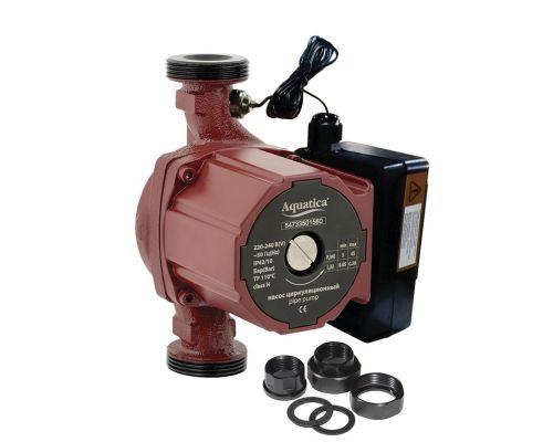 Насос циркуляционный с термодатчиком 65Вт Hmax 4м Qmax 63л/мин Ø1 130мм + гайки ؾ AQUATICA (774011)