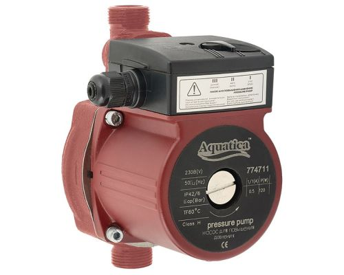 Насос для повышения давления 120Вт Hmax 9м Qmax 30л/мин ؾ 160мм + гайки ؽ AQUATICA (774711)
