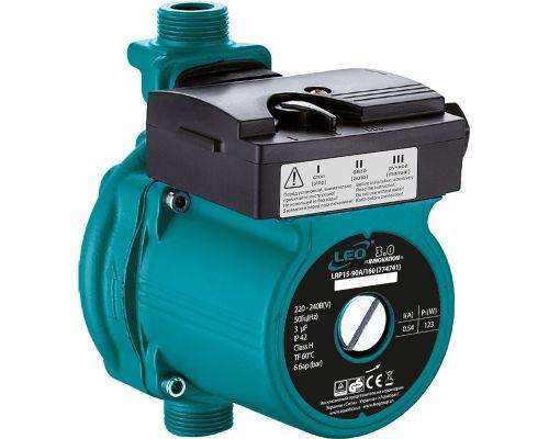 Насос для повышения давления 123Вт Hmax 9м Qmax 25л/мин ؾ 160мм + гайки ؽ LEO 3.0 (774741)