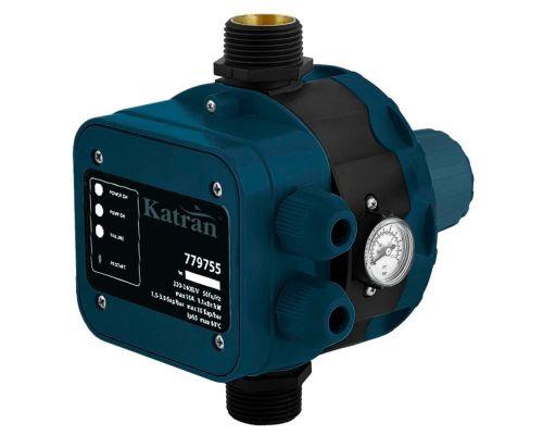 Контроллер давления электронный 1.1кВт Ø1 + рег давл вкл 1.5-3.0 bar Katran (779755)