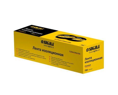 Изолента ПВХ (черная) 0,13мм×19мм×20м Premium Sigma (8411611)