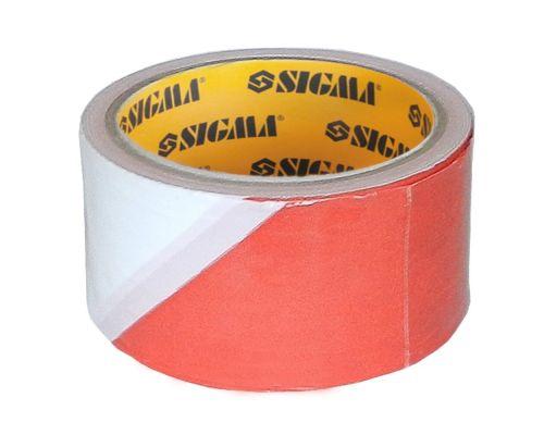 Лента сигнальная 72мм×50м Sigma (8423581)
