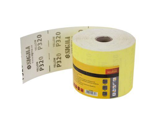 Шлифовальная бумага рулон 115ммх50м P320 Sigma (9114331)