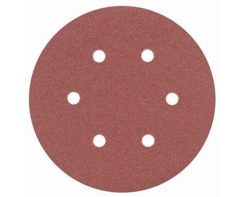 Шлифовальный круг 6 отверстий Ø150мм P80 (10шт) Sigma (9122251)
