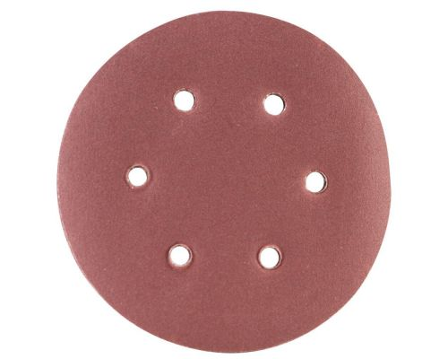 Шлифовальный круг 6 отверстий Ø150мм P180 (10шт) Sigma (9122291)