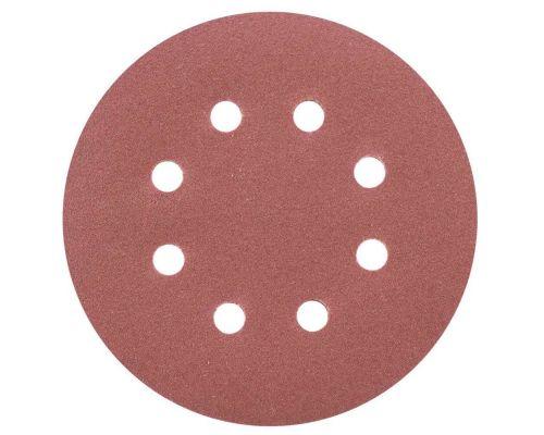 Шлифовальный круг 8 отверстий Ø125мм P180 (10шт) Sigma (9122691)