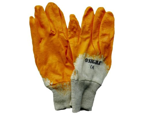 Перчатки трикотажные с частичным нитриловым покрытием (манжет х\б) Sigma (9223111)