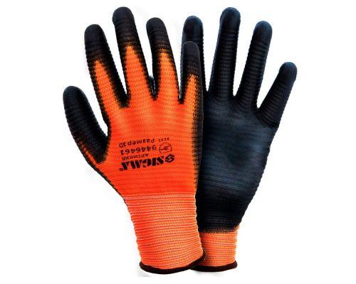 Перчатки трикотажные с ПУ покрытием (манжет) Sigma (9446461)