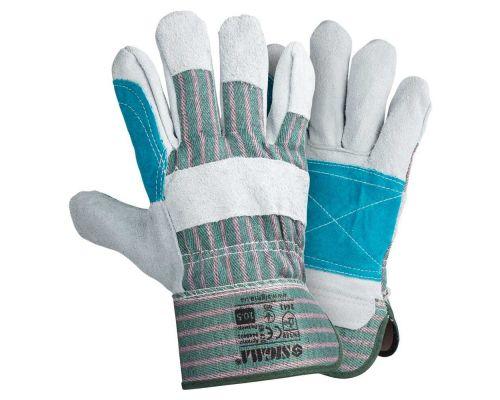 Перчатки комбинированные замшевые р10,5, класс ВС (усиленная ладонь) Sigma (9448401)