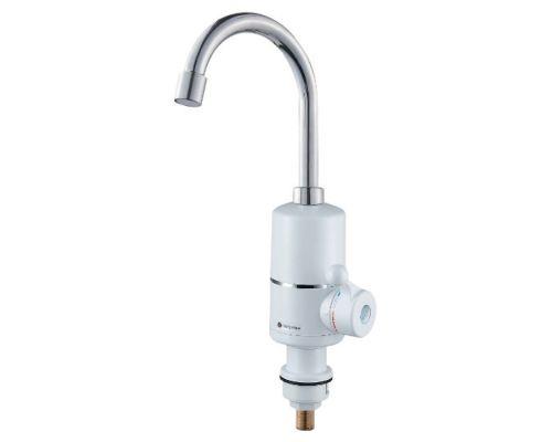 Кран-водонагреватель проточный NZ 3.0кВт 0,4-5бар для кухни гусак ухо на гайке AQUATICA (NZ-6B112W)