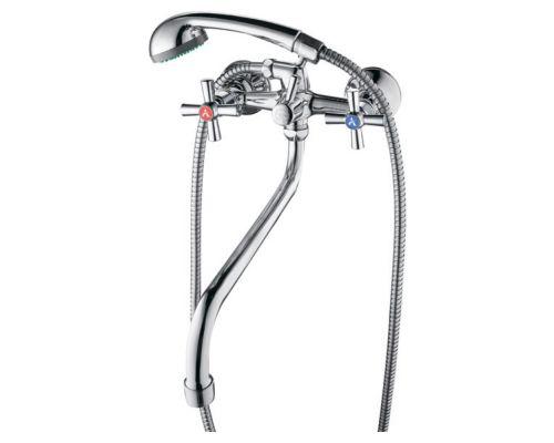 Смеситель PM 1/2 для ванны гусак изогнутый дивертор встроенный шаровый AQUATICA (PM-5C457C)