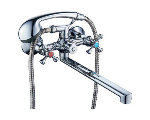 Смеситель VN 1/2 для ванны гусак прямой 350мм дивертор встроенный картриджный TAU (VN-2C260C)