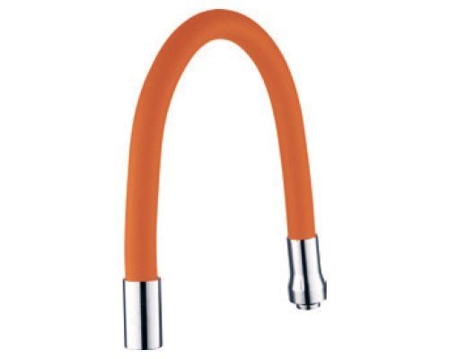Излив (гусак) 3/4 для кухни силиконовый оранжевый AQUATICA (XH-5242)