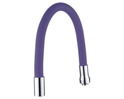 Излив (гусак) 3/4 для кухни силиконовый фиолетовый AQUATICA (XH-5243)